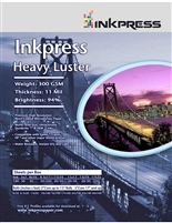 "Inkpress Heavy Luster 300gsm 8.5""x11"" - 50 sheets"