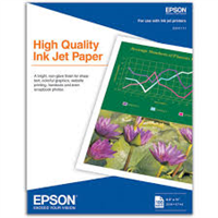 "EPSON High Quality Ink Jet Paper 8.5""x11"" 100 Sheets"
