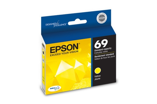 Epson 69 DuraBrite Ultra Ink Yellow for Stylus CX5000, CX6000, CX7000F, CX7400, CX8400, CX9400F, CX94