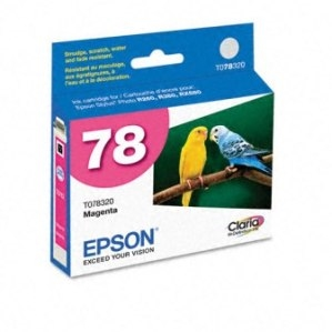 Epson 78 Claria Hi Definition Ink Magenta for Stylus Photo R260, Artisan R280, R380, RX580, RX595, RX - T078320