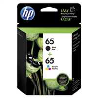 HP 65 2-pack Black/Tri-color Original Ink Cartridges - T0A36AN