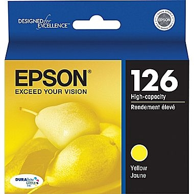 Epson 126 DuraBrite Ultra Ink High Capacity Yellow for Workforce 520