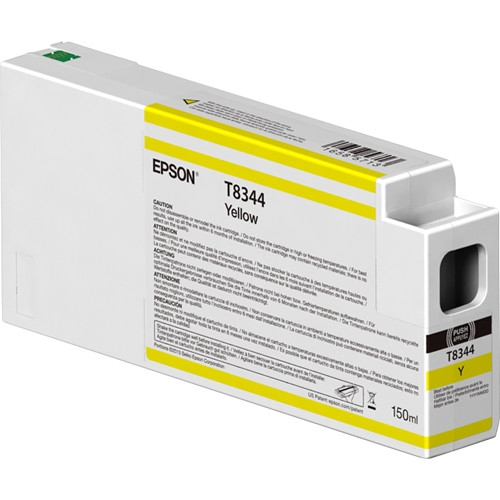 Epson UltraChrome HD 150mL Yellow Ink Cartridge for SureColor P6000, P7000, P8000, P9000 - T834400