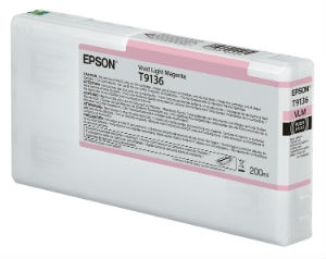 Epson Ultrachrome HD Vivid Light Magenta Ink Cartridge 200ml for SureColor P5000 Printers