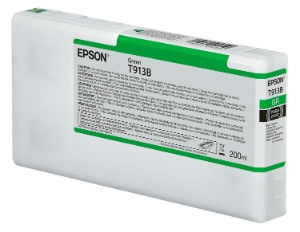 Epson Ultrachrome HDX Green Ink Cartridge 200ml for SureColor P5000 Printers