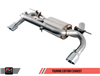 AWE Tuning BMW F3X 340i Touring Edition Axle Back Exhaust -- Chrome Silver Tips (90mm)