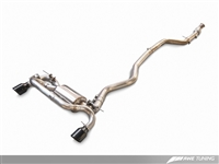 AWE Tuning BMW F3X 335i/435i Touring Edition Axle Back Exhaust -- Diamond Black Tips (102mm)