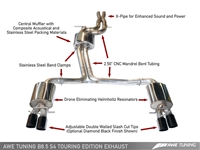 AWE Tuning Audi S4 3.0T Touring Edition Exhaust - Chrome Silver Tips (90mm)