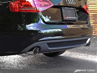 AWE Tuning  B8 A4 3.2L Touring Edition Exhaust System - Dual 88.9mm (3.5in) Round Polished Silver Tips