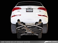 AWE Tuning Q5 2.0T Touring Edition Exhaust - Polished Silver Tips