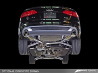 AWE Tuning B8 A4 2.0T Touring Edition Exhaust - Dual Outlet, Polished Silver Tips