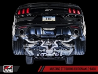 AWE S550 Mustang GT Axle-back Exhaust - Touring Edition (Chrome Silver Tips)