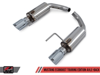 AWE S550 Mustang EcoBoost Axle-back Exhaust - Touring Edition (Chrome Silver Tips)