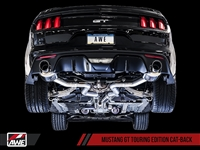 AWE S550 Mustang GT Cat-back Exhaust - Touring Edition (Diamond Black Tips)