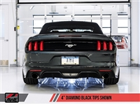 AWE S550 Mustang EcoBoost Axle-back Exhaust - Touring Edition (Diamond Black Tips)