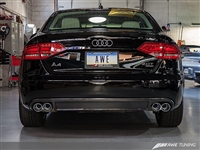 AWE Tuning A4 2.0T Touring Edition Exhaust - Quad Tip, Polished Silver Tips