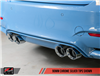 AWE Track Edition Exhaust for BMW F8X M3/M4 - Non-Resonated - Carbon Fiber Tips