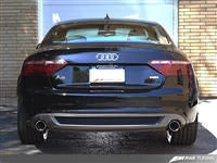 AWE Tuning  B8 A5 3.2L Track Edition Exhaust System - Dual 3.5in Polished Silver Tips