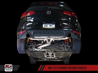AWE Tuning VW MK7 GTI Track Edition Exhaust - Chrome Silver Tips