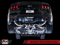 AWE S550 Mustang GT Axle-back Exhaust - Track Edition (Chrome Silver Tips)
