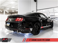 AWE S550 Mustang GT Cat-back Exhaust - Track Edition (Chrome Silver Tips)