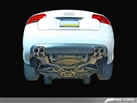 AWE Tuning Audi B7 A4 3.2L Track Edition Dual Tip Exhaust - Diamond Black Tips