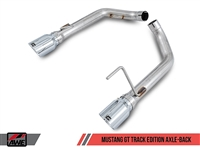 AWE S550 Mustang GT Axle-back Exhaust - Track Edition (Diamond Black Tips)