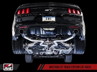 AWE S550 Mustang GT Cat-back Exhaust - Track Edition (Diamond Black Tips)