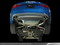 AWE Tuning Track Edition A5 Exhaust System - Quad 90mm Slash Cut Silver Tips