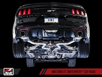 AWE S550 Mustang GT Cat-back Exhaust - SwitchPath (Chrome Silver Tips)