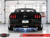 AWE S550 Mustang GT Cat-back Exhaust - SwitchPath (Diamond Black Tips)