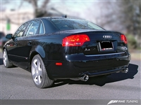 AWE Tuning Audi B7 A4 3.2L Touring Edition Dual Tip Exhaust -- Polished Silver Tips