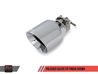 AWE Tuning Audi B7 A4 3.2L Track Edition Dual Tip Exhaust -- Polished Silver Tips