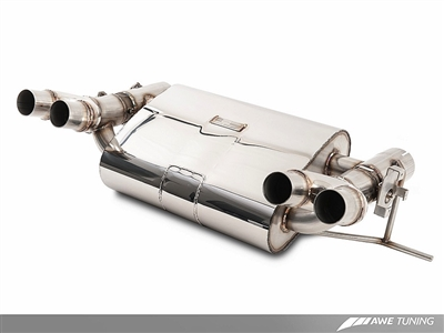AWE Tuning BMW F8X M3/M4 Non Resonated SwitchPath Exhaust -- Diamond Black Tips (102mm)