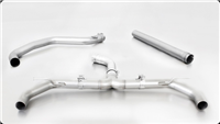 Remus Racing Dual Tip Axle-back Sport Exhaust VW Golf VII GTI/GTI Performance, type AU, 2013=> (Non-Resonated mid-pipe)