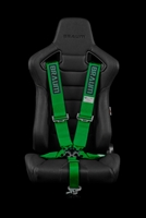 "Braum 5 Point 3"" SFI Approved Racing Harness - Green"