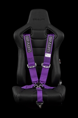 "Braum 5 Point 3"" SFI Approved Racing Harness - Purple"