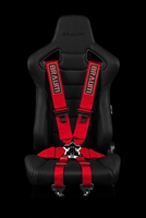 "Braum 6 Point 3"" FIA Certified Racing Harness - Red"