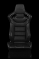 Braum Elite Series Fixed Back Sport Seat - Black Leatherette (Black Stitching)