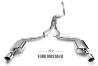 Fi-Exhaust Mustang MK6 2.3T Ecoboost 2015+ Front Pipe + Mid Pipe + Valvetronic Muffler + Dual Tips