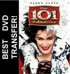 Disney 101 Dalmatians DVD Cover Glenn Close