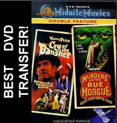 Cry Of The Banshee & Murders In The Rue Morgue DVD 1970