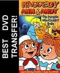 Raggedy Ann & Andy The Pumpkin Who Couldnt Smile DVD 1979