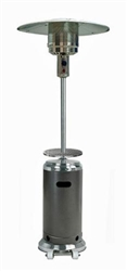 Hammered Silver & Stainless Steel Patio Heater with Table HLDS01-SSHST