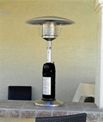 Table Top Black/Stainless Steel Patio Heater