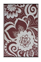 Fab World Collection - Maui - Cranberry Red & Cream
