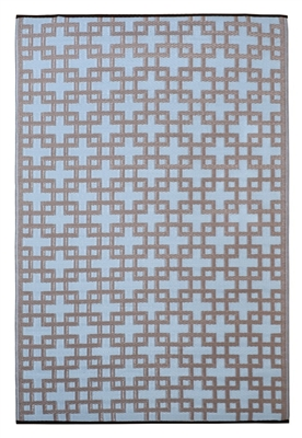 Fab World Collection - Rheinsberg - Powder Blue & Warm Taupe