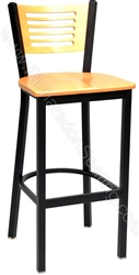 Cutout Slat Cafe Stool