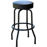 Black Frame Swivel Restaurant Bar Stool