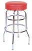 Double Ring Swivel Restaurant Bar Stool